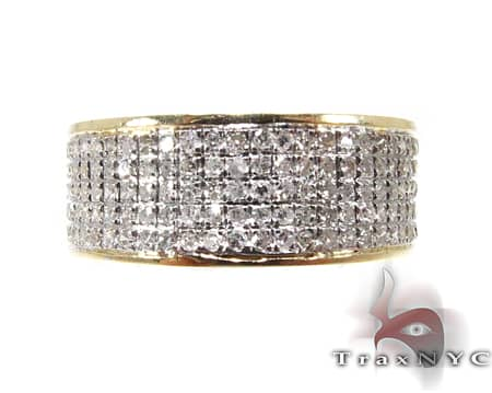 YG 5 Row Diamond Ring Style