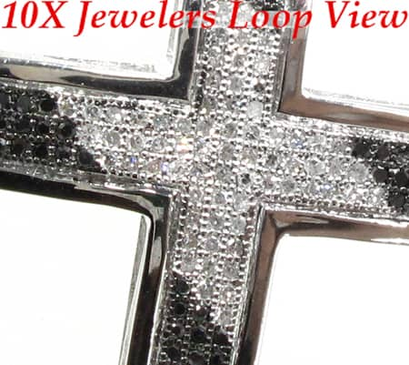 Black & White Junior Cross Diamond