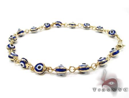 Blue Evil Eye Bracelet Gold