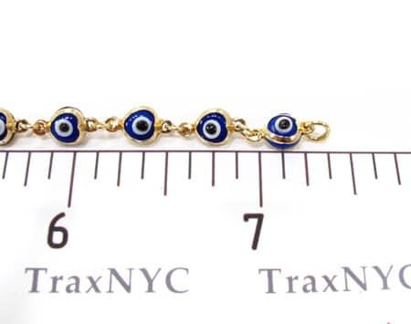 Blue Evil Eye Bracelet Gold