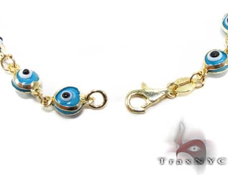 Blue Clair Evel Eye Bracelet Gold