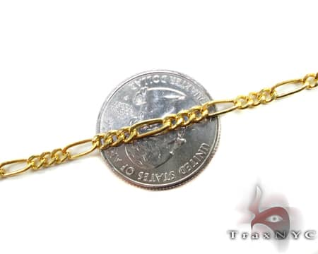 Figaro Chain 18 Inches, 3.2mm, 3.70 Grams Gold