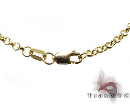 Round Link Chain 24 Inches, 2.5mm, 7.9 Grams Gold