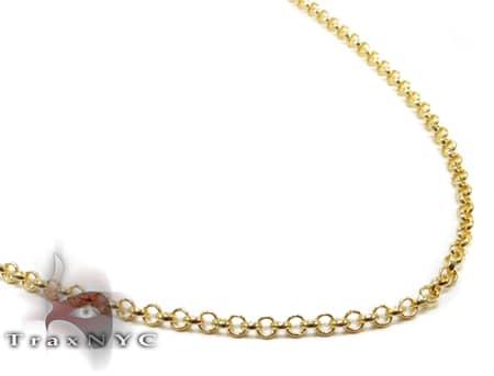Round Link Chain 20 Inches, 2.5mm, 6.6 Grams Gold