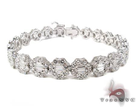 Baguette Flower Bracelet Diamond