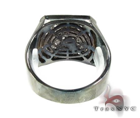 Mens Demanding 14K Black Rhodium Pinky Ring Stone