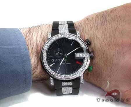 Iced Diamond Gucci Watch 2 Gucci