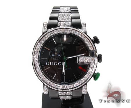 Iced Diamond Gucci Watch 2 Gucci