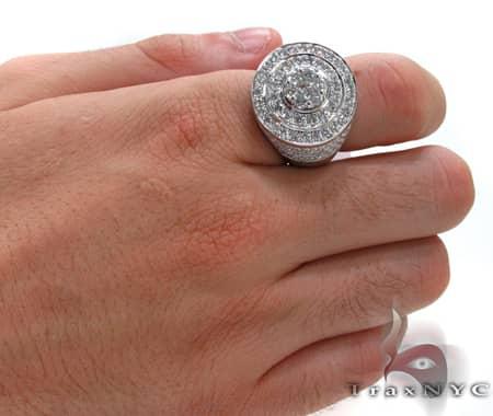 White Gold Mayan Pinky Ring Stone
