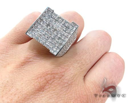 White Gold Mens Master Ring Stone