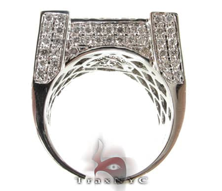 White Gold Mens Master Ring Stone