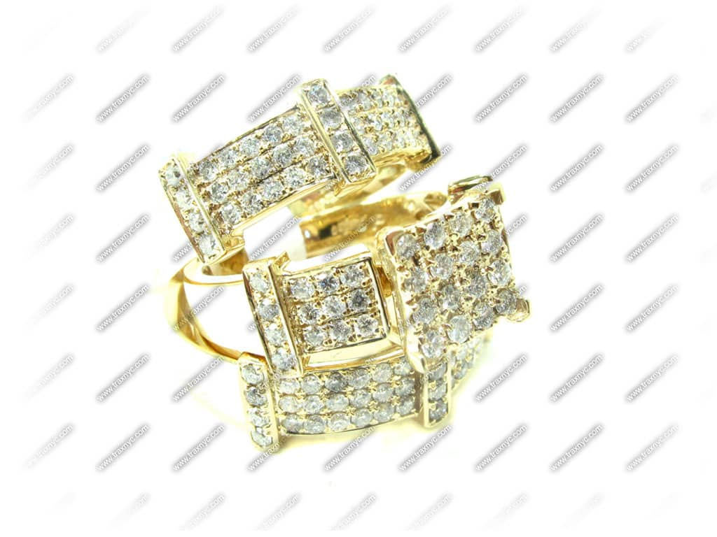 Beverly His & Hers Wedding Set 5 La s Diamond Wedding Set Yellow Gold 14k
