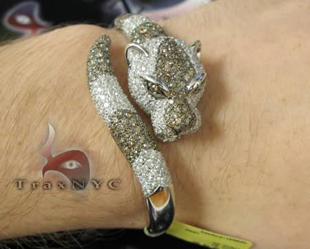 Cougar Bangle Bracelet Diamond