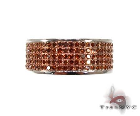 5 Row Red Diamond Ring Anniversary/Fashion