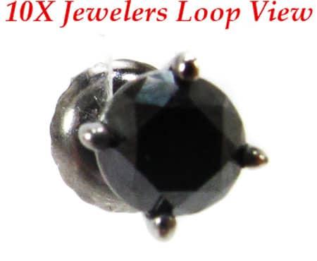Royal Black Diamond Earrings Style