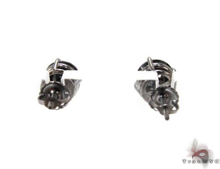 Royal Black Diamond Earrings 4 Stone