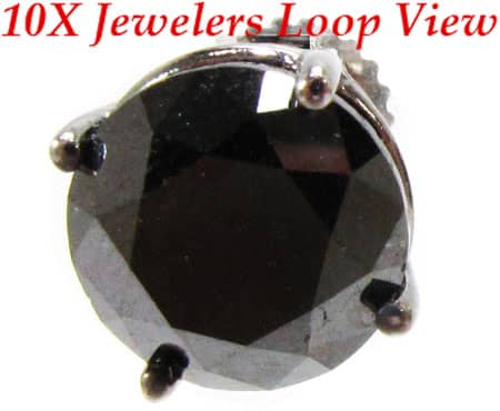 Custom Jewelry - Royal Black Diamond Earrings 5 Stone