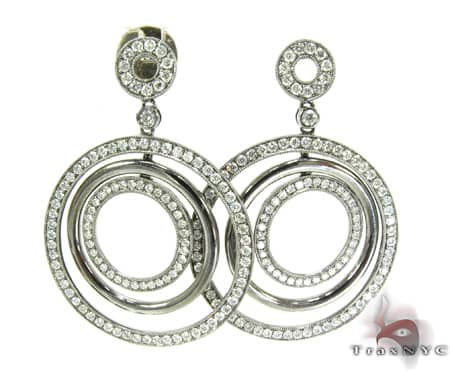 Circular Dangle Earrings Stone