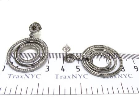 Circular Dangle Earrings Stone