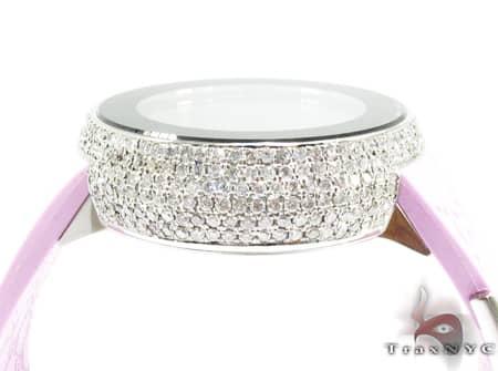 Ladies Pink Fully-Iced Gucci Watch YA114404 Gucci