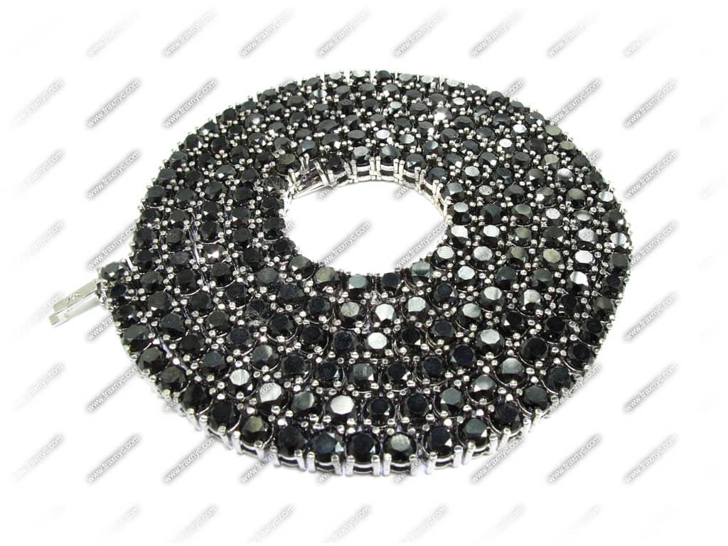Black Diamond Chain 30 Inches, Mens Diamond Chain White ...  Black Diamond C...