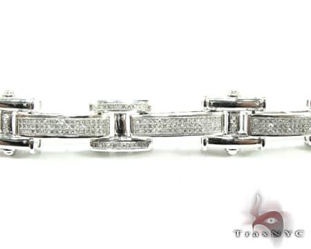 Prong Link Bracelet Diamond
