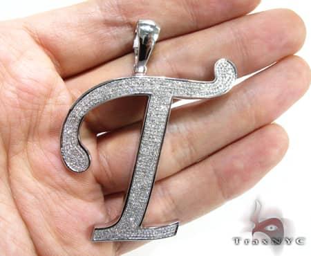 Iced T Pendant Metal