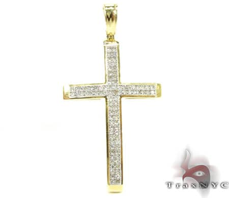 YG Two Row Cross Diamond