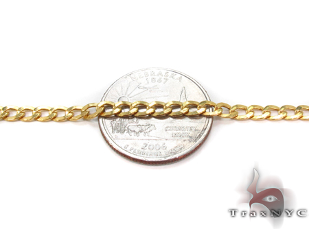 10K Gold Cuban Bracelet 33034 Gold