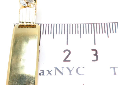 10K Cuban Diamond Cut ID Bracelet 33049 Gold