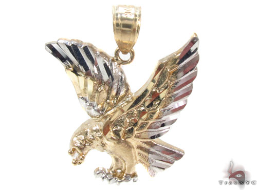 10K Eagle Gold Pendant 34819 Metal