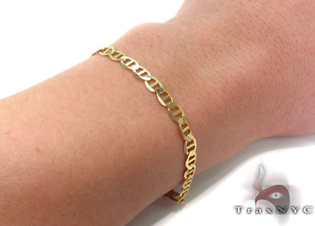 10K Gold Anchor Bracelet 33208 Gold