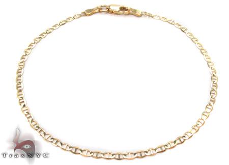 10K Gold Anchor Bracelet 33213 Gold
