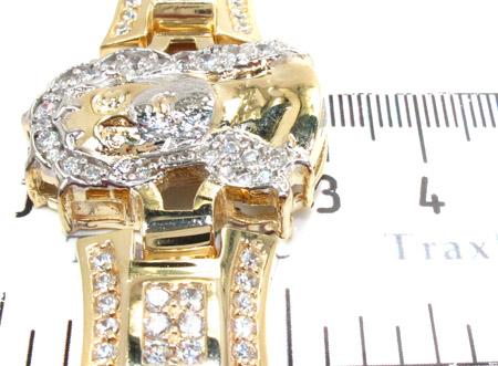 10K Gold CZ Jesus Head Bracelet 25393 Gold