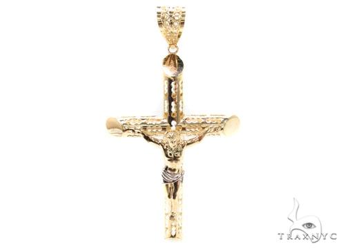 10K Gold Cross  Pendant 36769 Gold