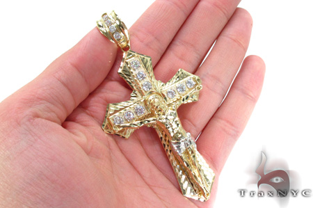 10K Gold Cross 31050 Gold