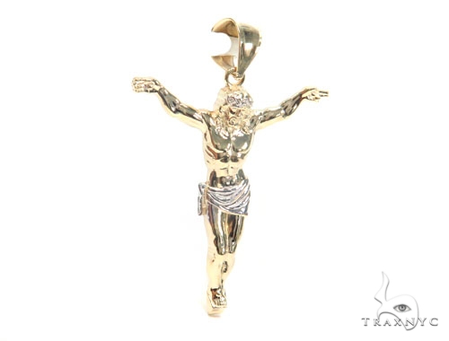 10K Gold Crucifix 44792 Style