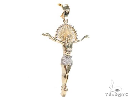 10K Gold Halo Crucifix 44911 Style