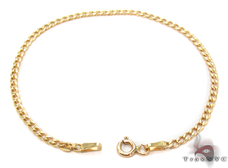 10K Gold Cuban Bracelet 33037 Gold