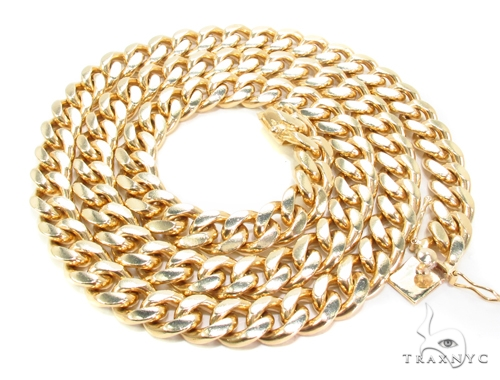 14K Gold Cuban Chain 26 Inches, 10mm, 202.5 Grams Gold