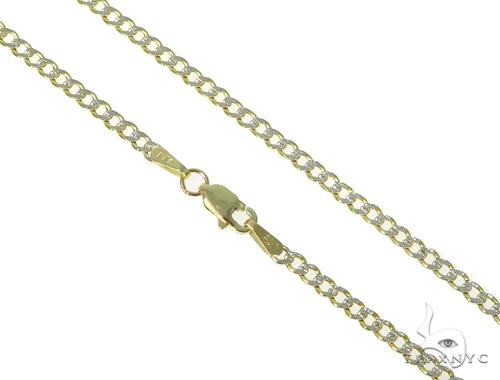 10K Gold Diamond Cuban n 24 Inches 2.5mm 3.0 Grams 45394 Gold