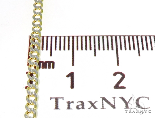 10K Gold Diamond Cuban n 24 Inches 2.5mm 3.0 Grams 45394 Gold