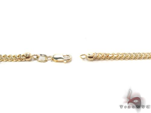 10K Gold Diamond Cut Franco Link Chain 28 Inches, 3mm, 35.9 Grams Gold