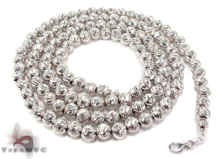10K Gold Disco Ball Chain 31399 34 Inches 6mm 64.80Grams Gold