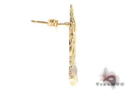 10K Gold Earrings 34176 Metal