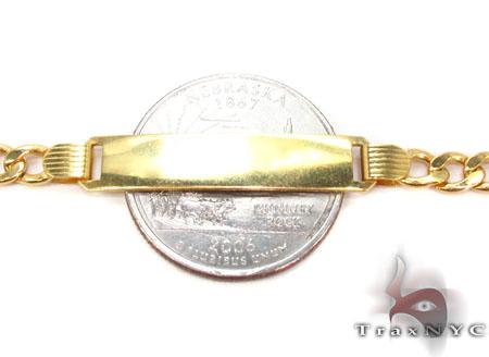 10K Gold Figaro ID Bracelet 33043 Gold