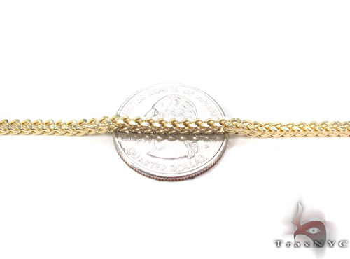 10K Gold Franco Chain 28 Inches, 2.5mm, 12.3 Grams Gold