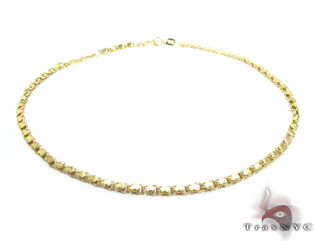 yellow p anklet solid figaro s ankle real inches royal bracelet gold link