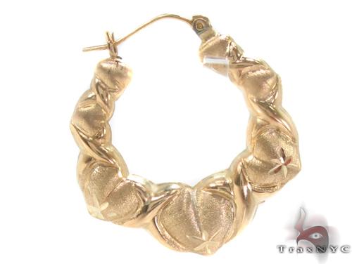 10K Gold Hoop Earrings 34291 Metal
