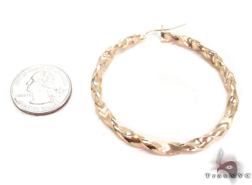 10K Gold Hoop Earrings 34305 Metal